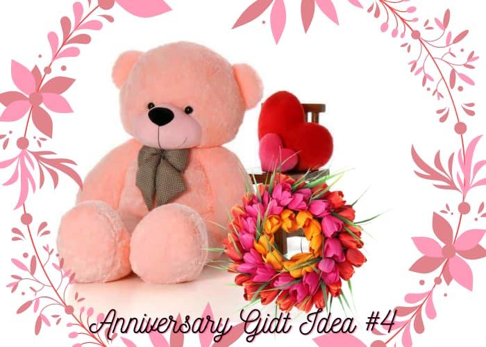 Tulips With Teddy Bear
