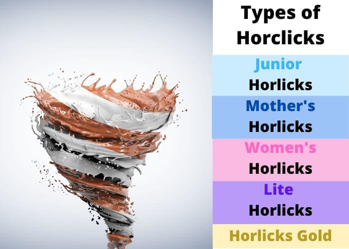 Types of Horlicks