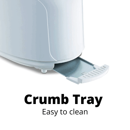 Removable crumb tray